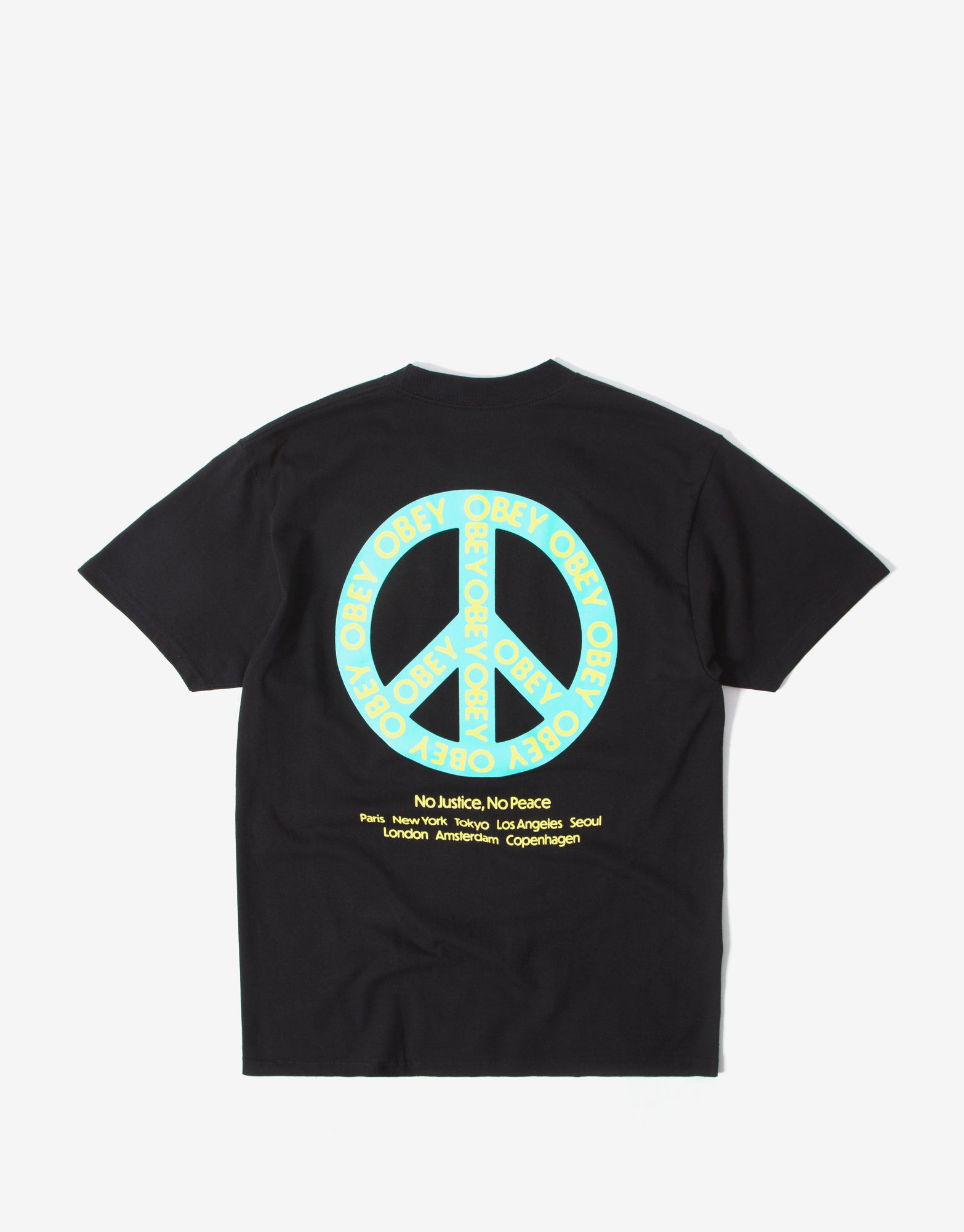 Obey Peace T Shirt - Black