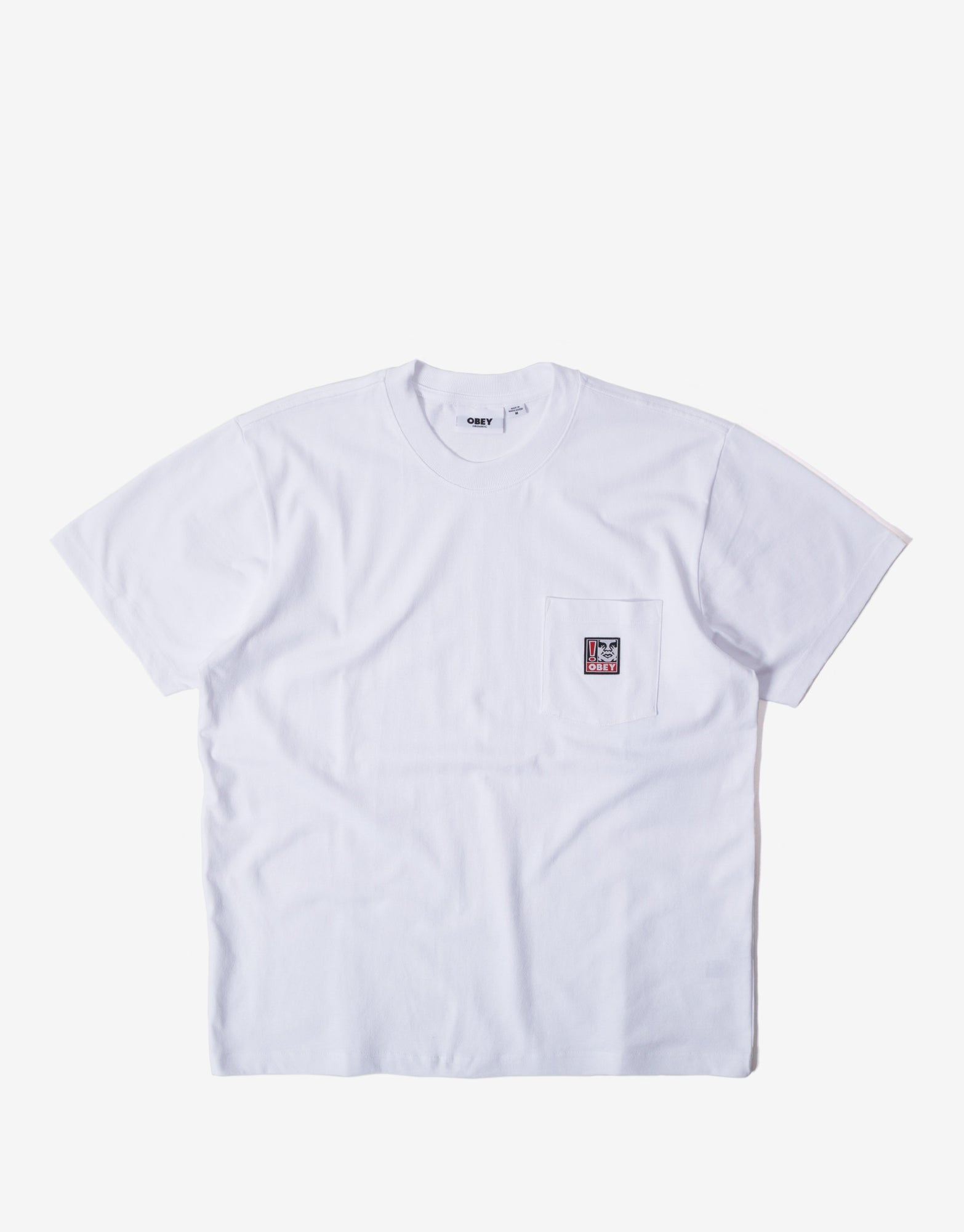 Obey Point Organic Pocket T Shirt - White