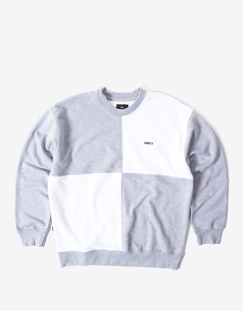 Obey Pollen Sweatshirt - Heather Ash/Multi
