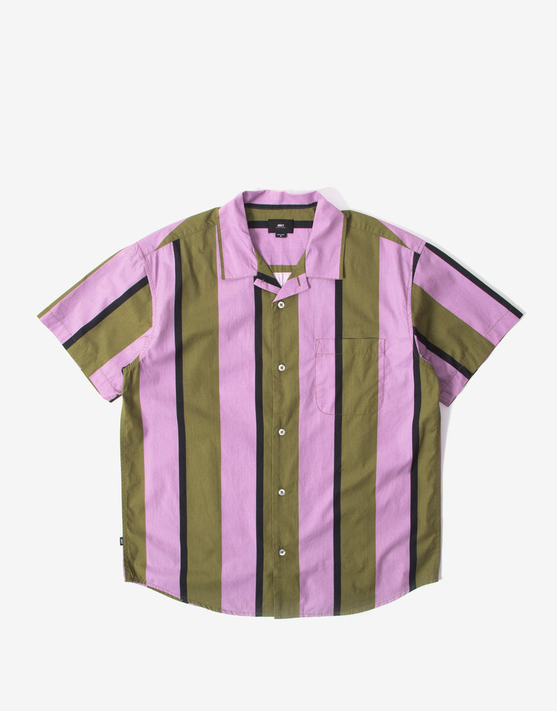 Obey Shanty Woven Short Sleeve Shirt - Lilac/Multi