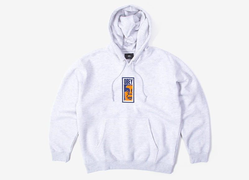 Obey Slim Icon Hoody - Ash grey