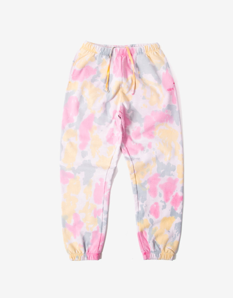 Obey Sustainable Tie Dye Sweatpants - Yellow/Multi