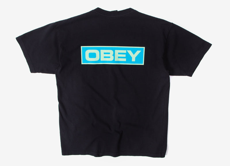 Obey Depot 2 T Shirt - Off Black