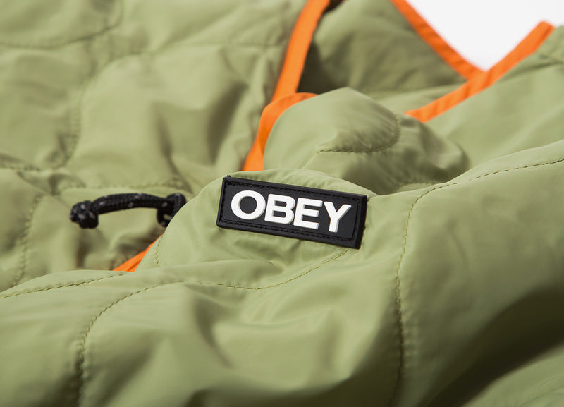 Obey Nonsense Liner Jacket - Burlap/Multi