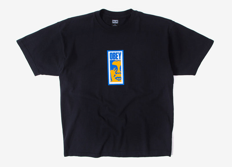 Obey Slim Icon T Shirt - Off Black
