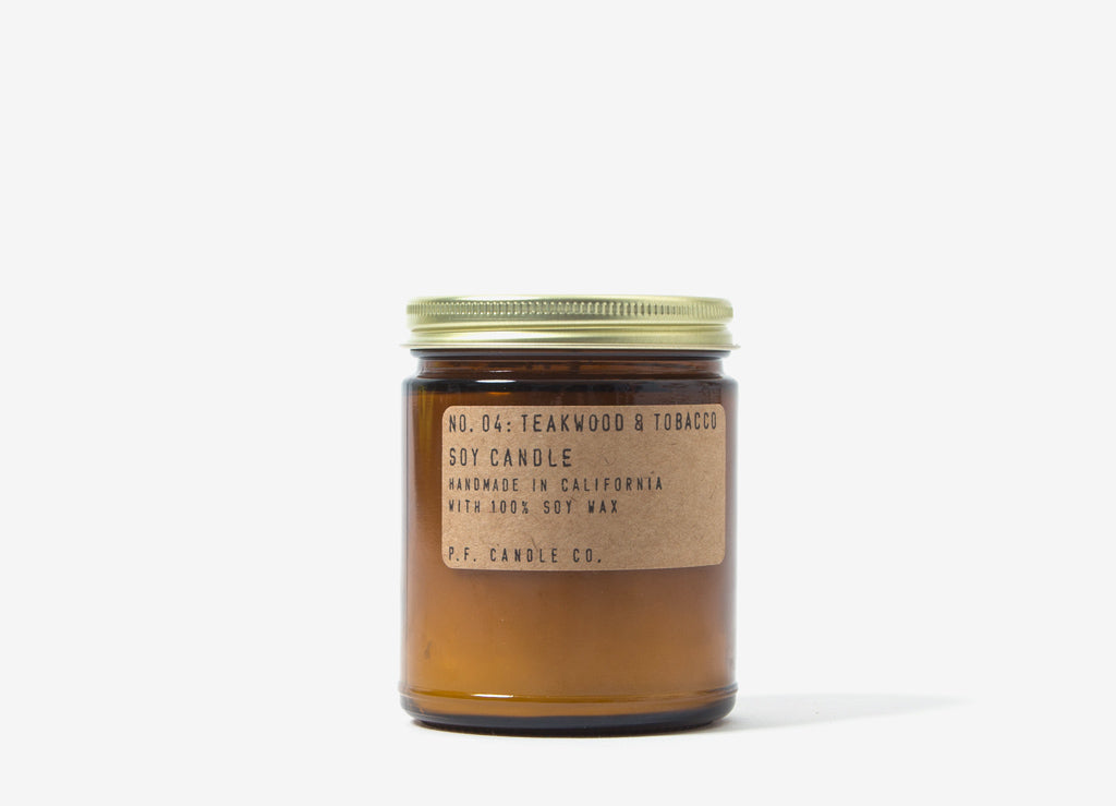 P.F. Candle Co. Teakwood & Tobacco Soy Candle - 7.2o/z