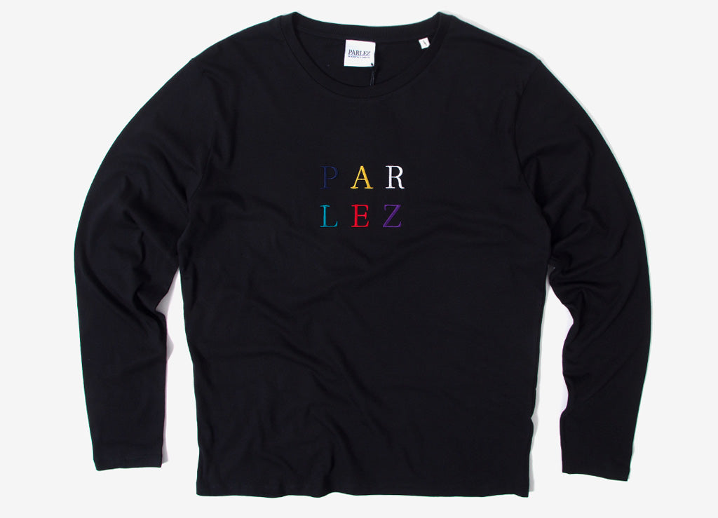 Parlez Block L/S T Shirt - Black