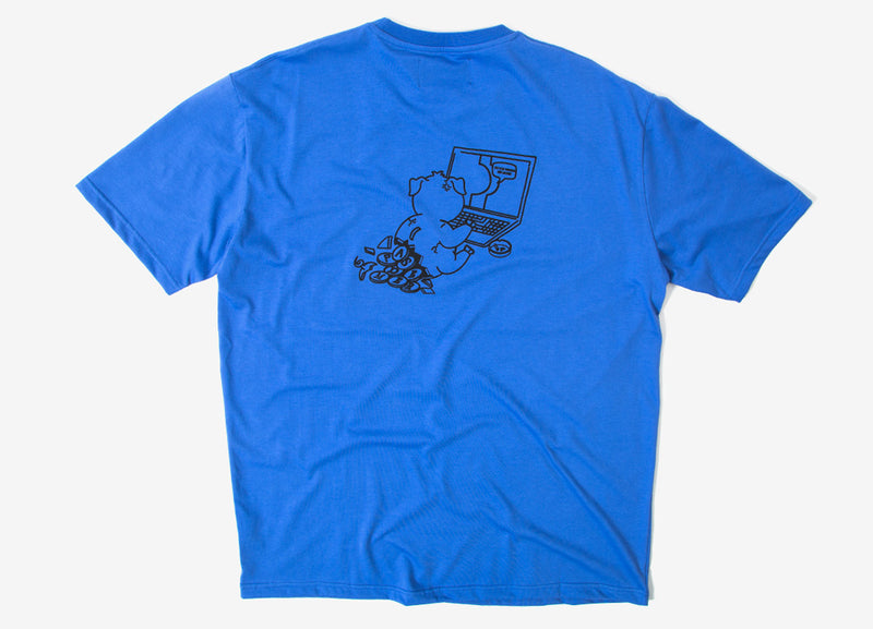 Pas de Mer The Internet T Shirt - Blue