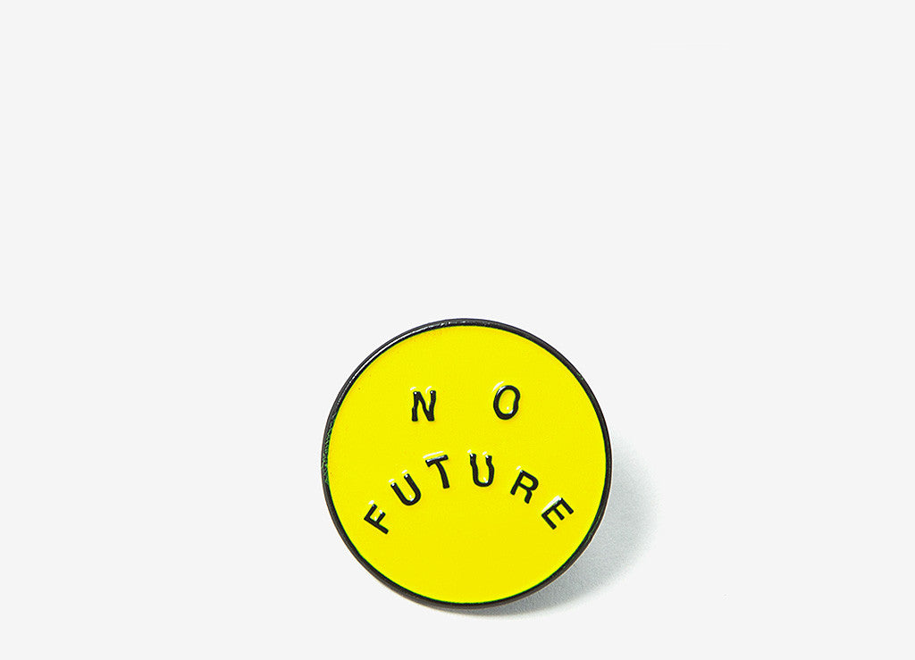 indcsn No Future Distort Enamel Pin - Allover