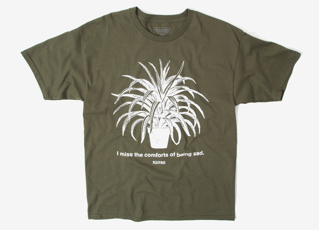 Pleasures Comforts T Shirt - Olive