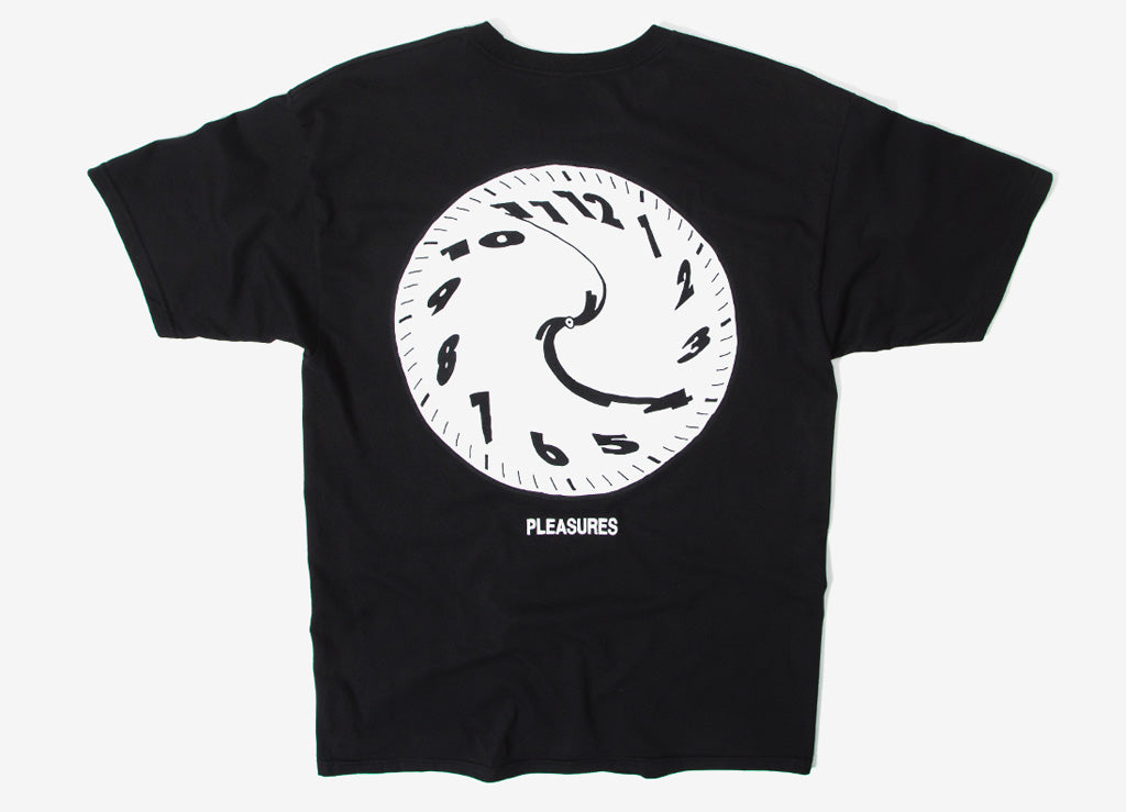 Pleasures Time T Shirt - Black