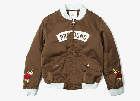 Profound Burning Rose Bomber Jacket - Olive Brown