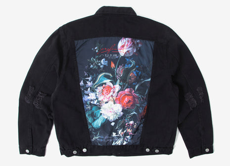 Profound Aesthetic Still Life Destroyed Denim Jacket - Black