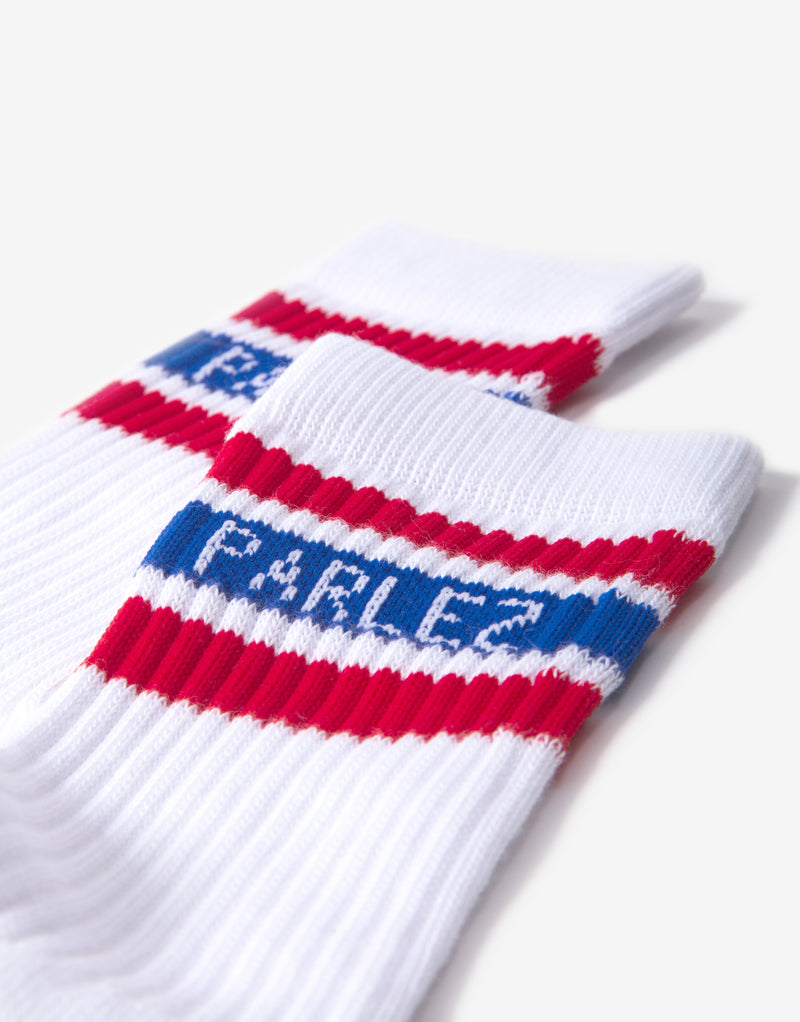 Parlez Block Socks - Red/Blue