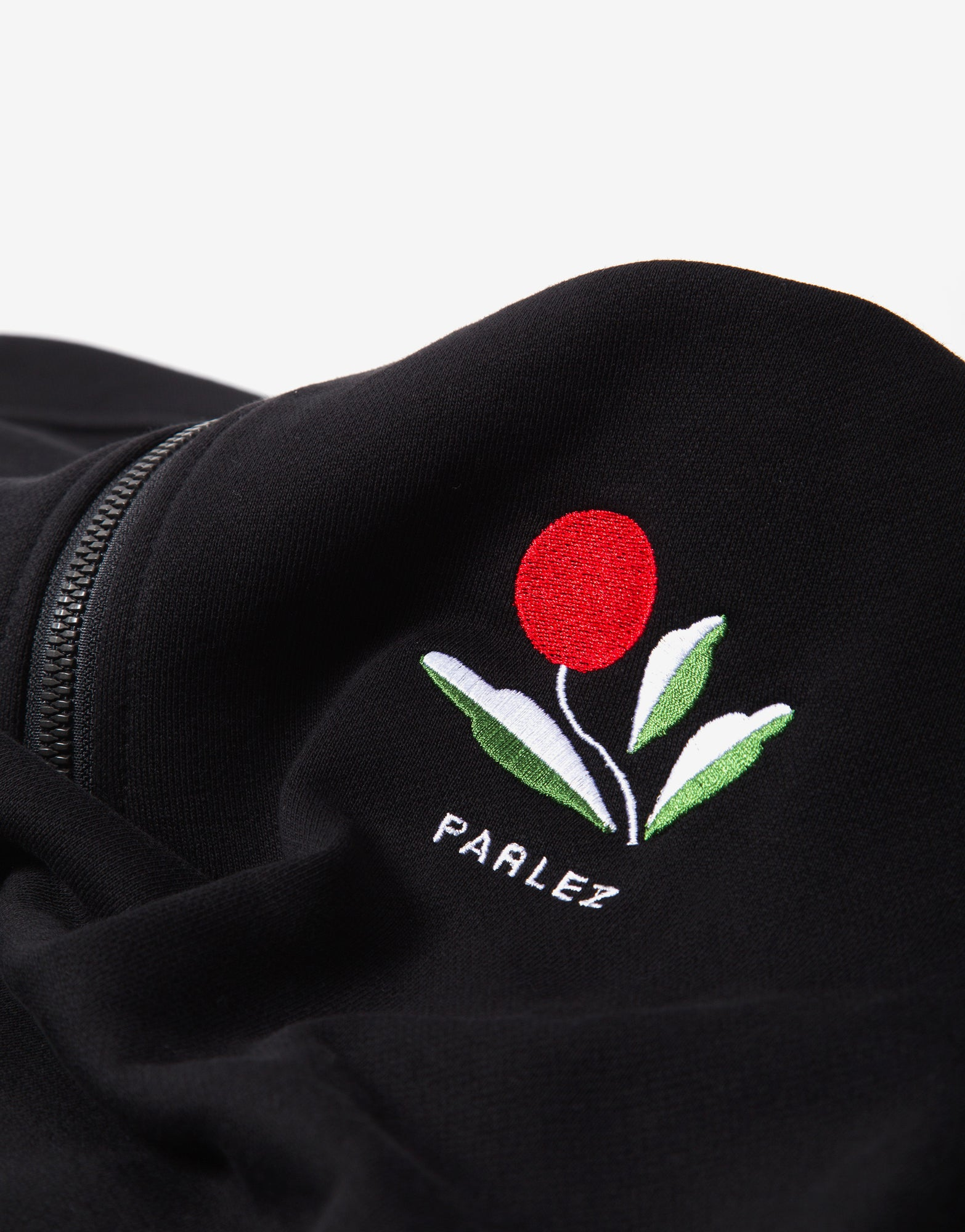 Parlez Kojo 1/4 Zip Sweatshirt - Black
