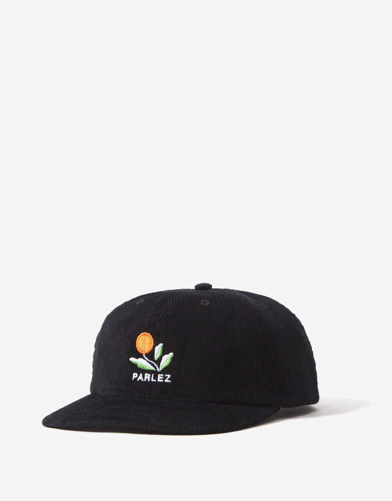 Parlez Kojo Cord 6 Panel Cap - Black