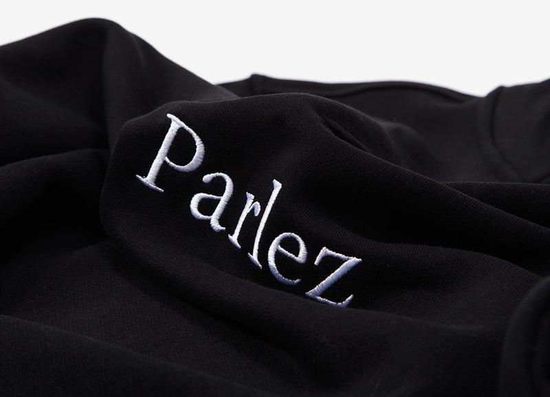 Parlez Trim 1/4 Zip Sweatshirt - Black