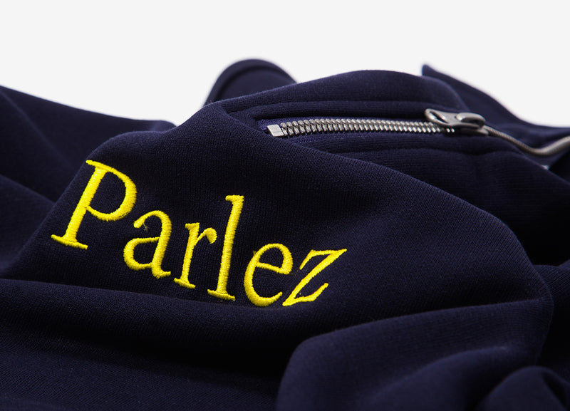 Parlez Trim 1/4 Zip Sweatshirt - Navy