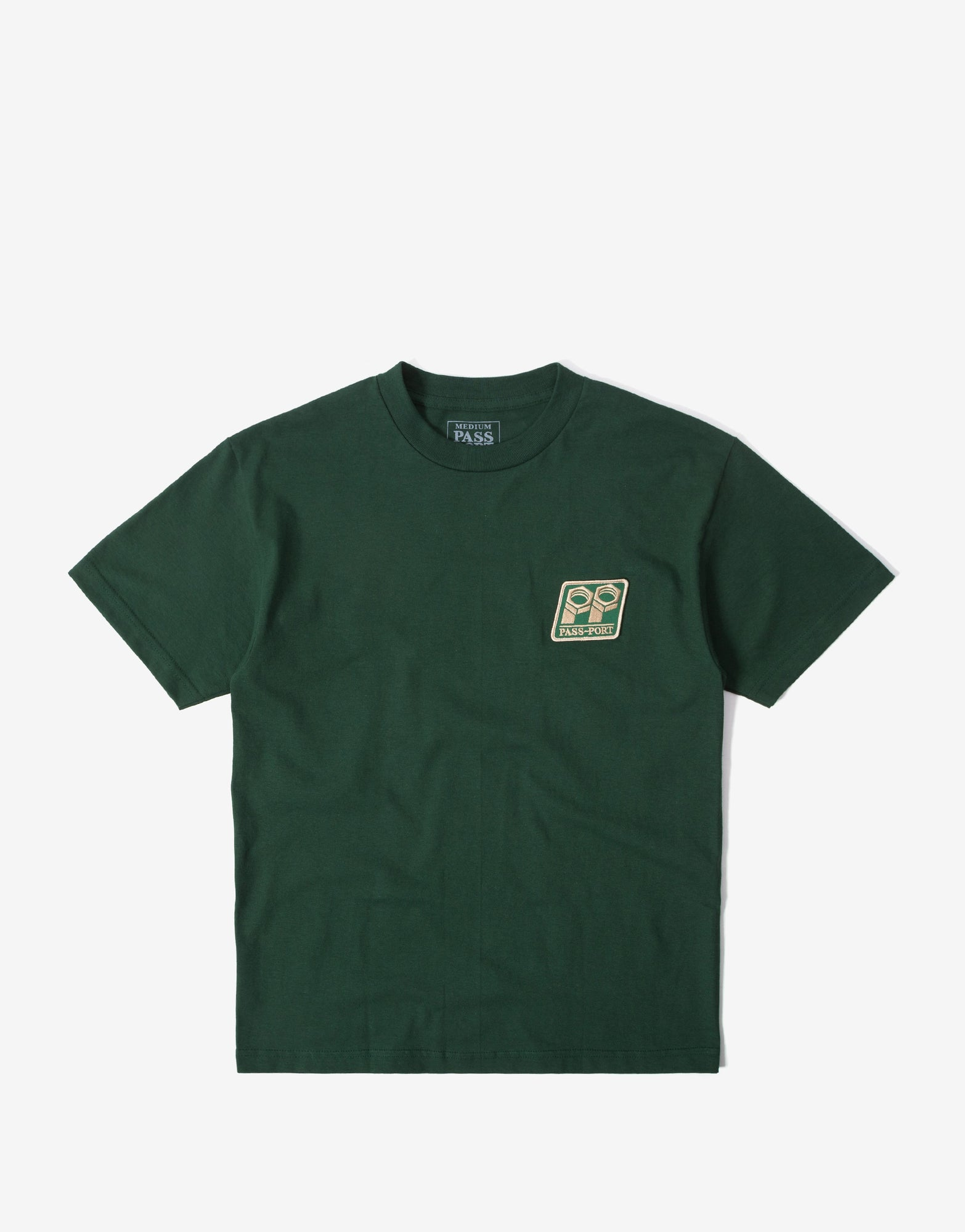 Pass Port Bolt Patch T Shirt - Forest Green
