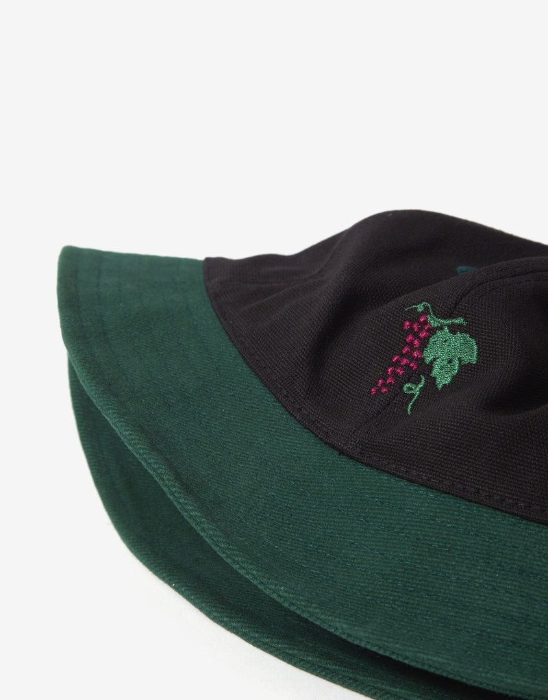 Pass Port Life of Leisure Bucket Hat - Forest Green/Black