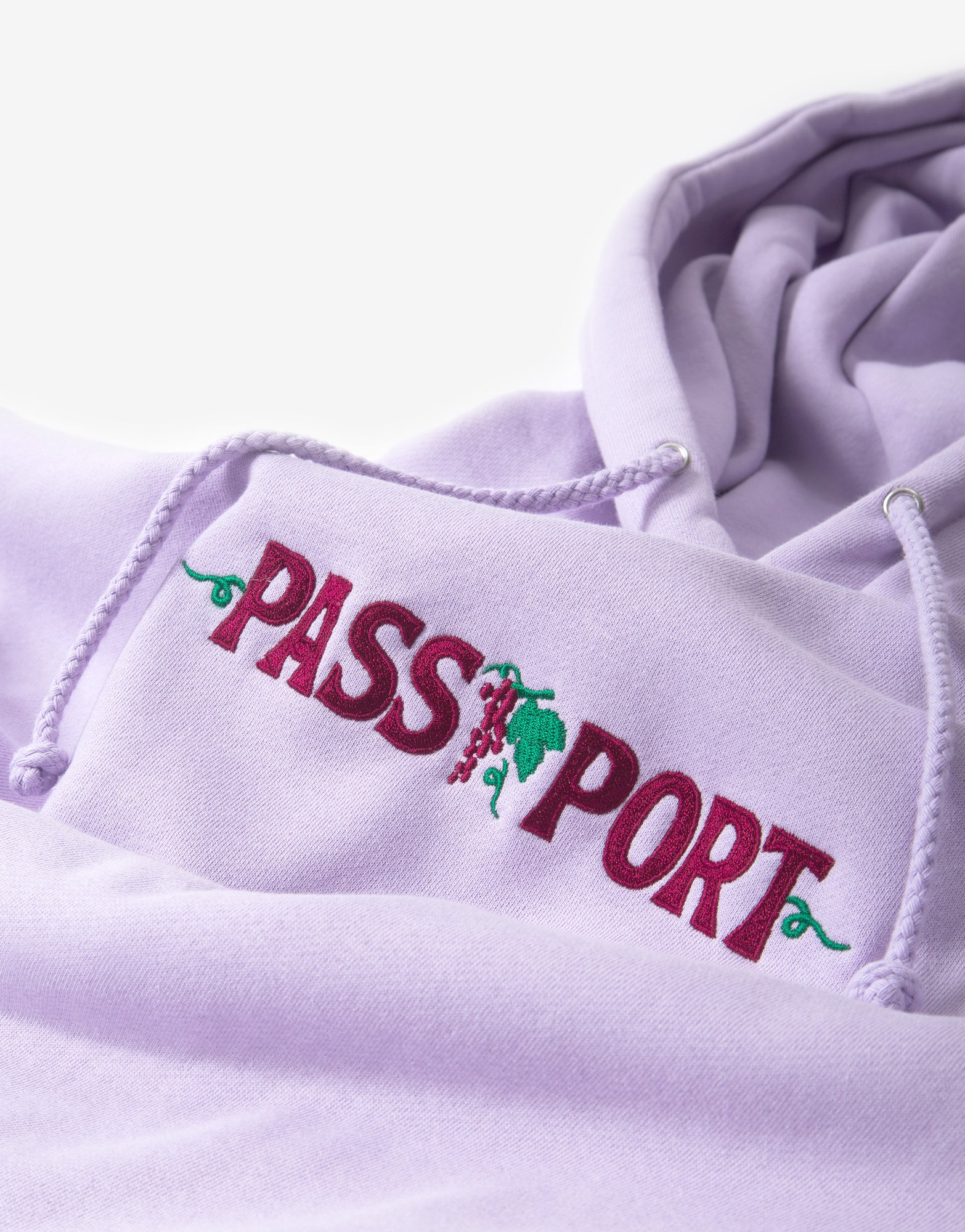 Pass Port Life of Leisure Emb. Hoody - Lavender
