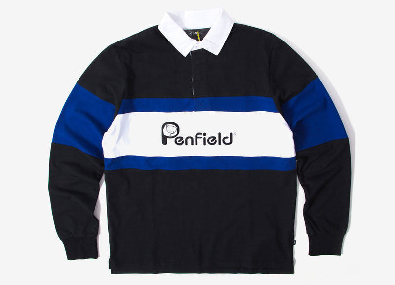 Penfield Cass Rugby Shirt - Black