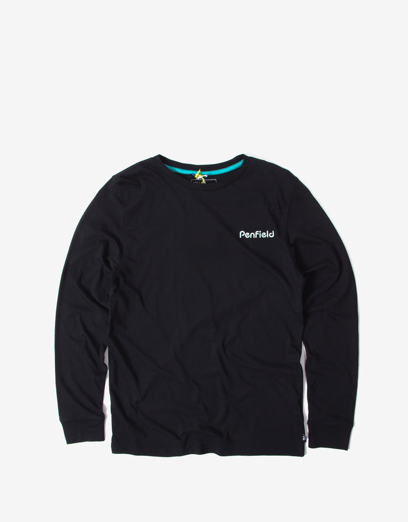 Penfield Dedham Long Sleeve T Shirt - Black