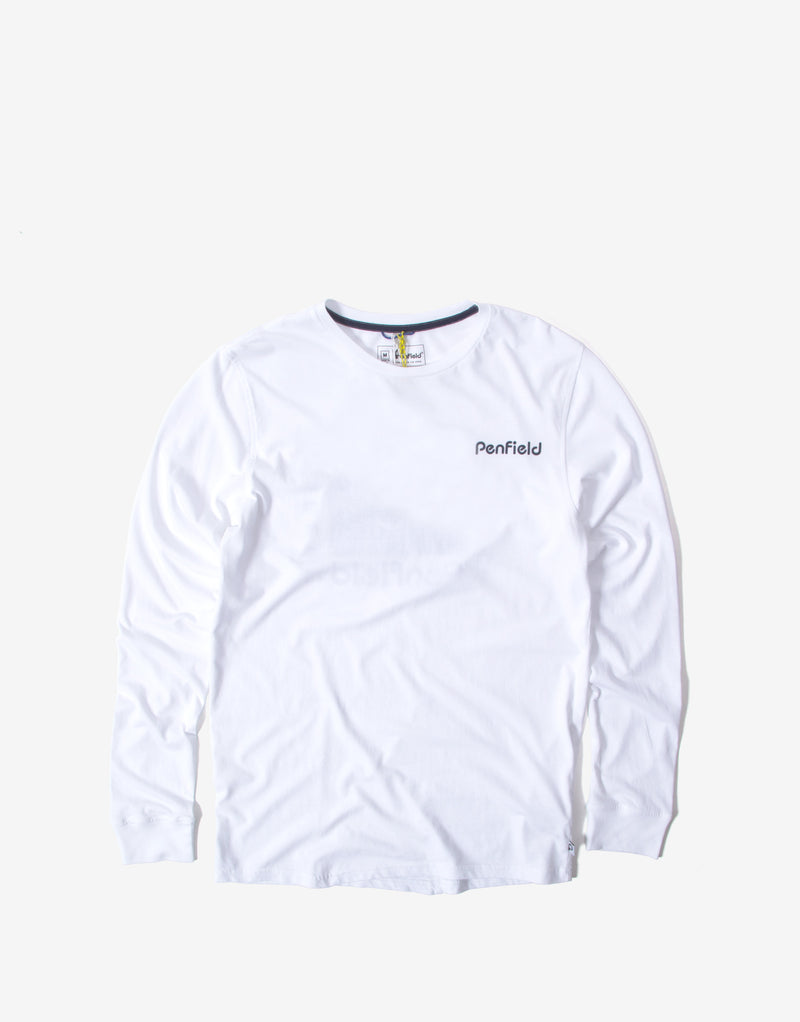 Penfield Dedham Long Sleeve T Shirt - White