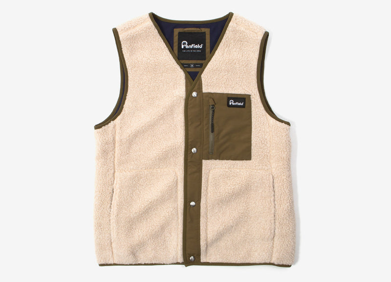 Penfield Hawley Fleece Vest - Tan