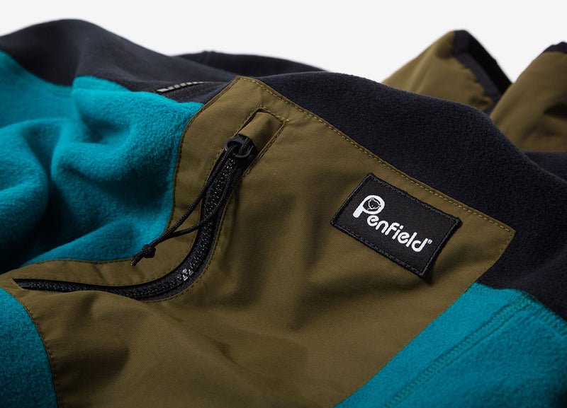 Penfield Hynes Fleece - Black/Dark Olive