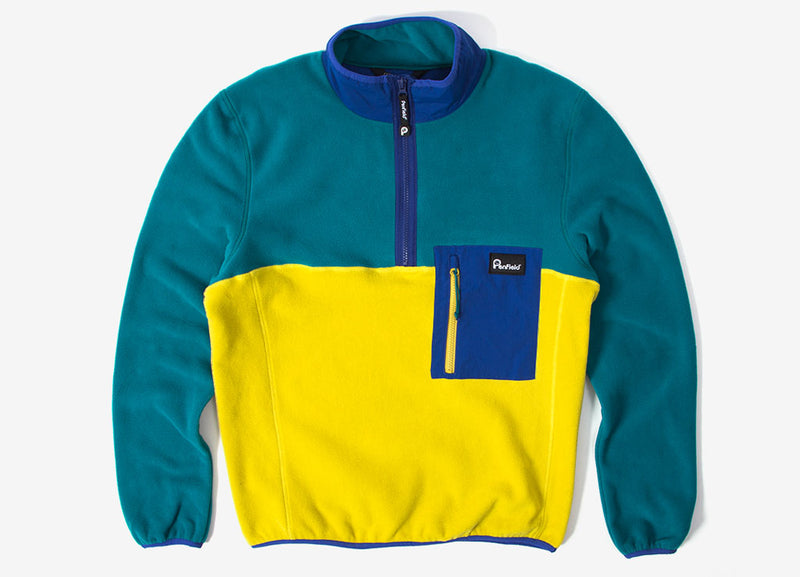 Penfield Hynes Fleece - Teal/Citrus