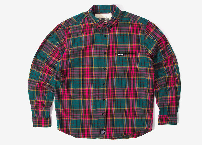 Piilgrim Cooper Long Sleeve Shirt - Green