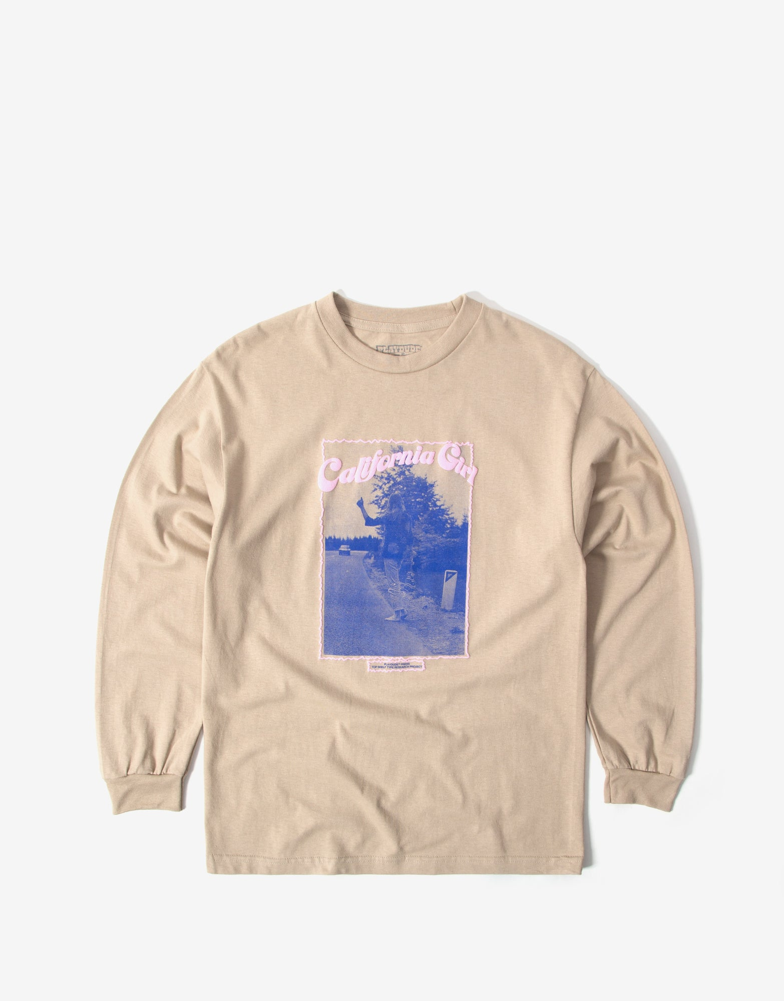 Playdude Hitchhiker Long Sleeve T Shirt - Sand