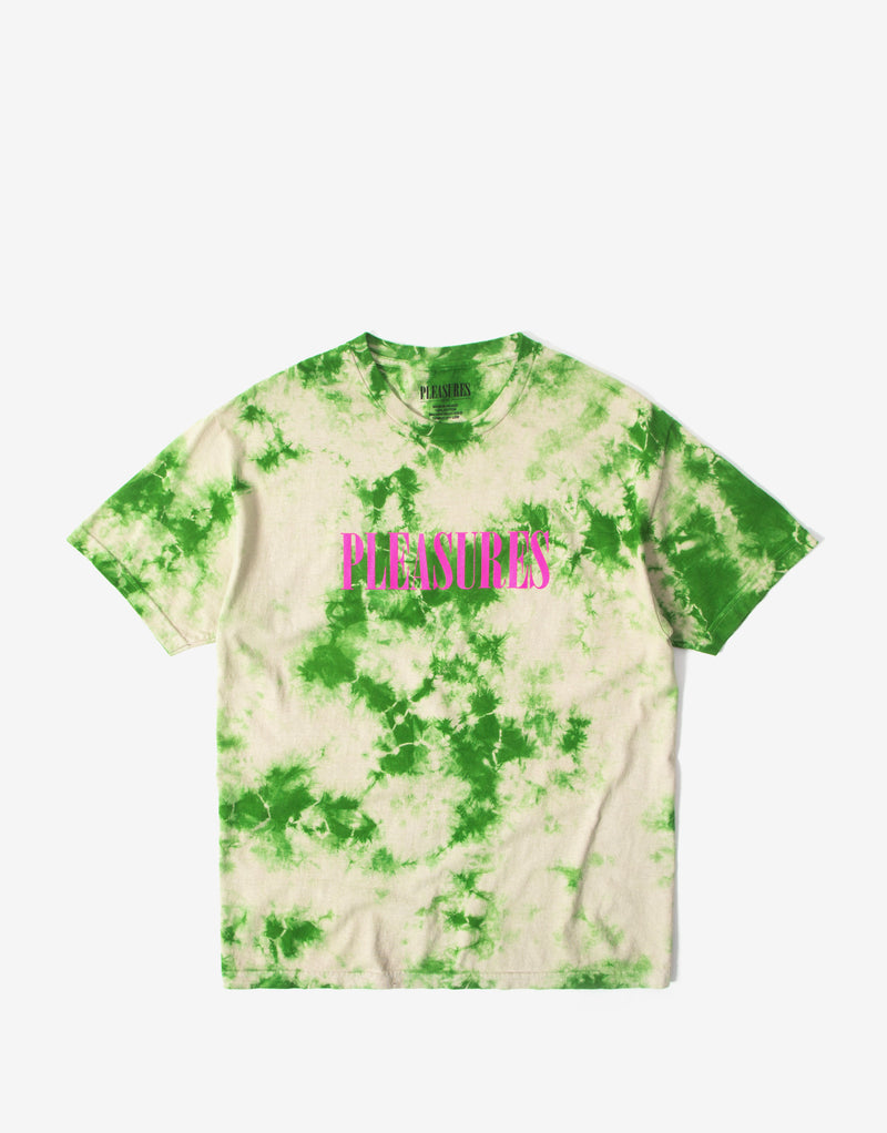 Pleasures Aroma Crystal Dye T Shirt - Natural/Green