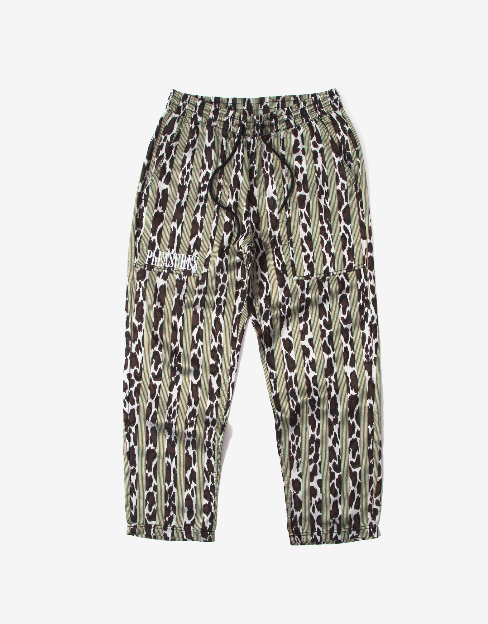 Pleasures Bloom Striped Beach Pant - Black