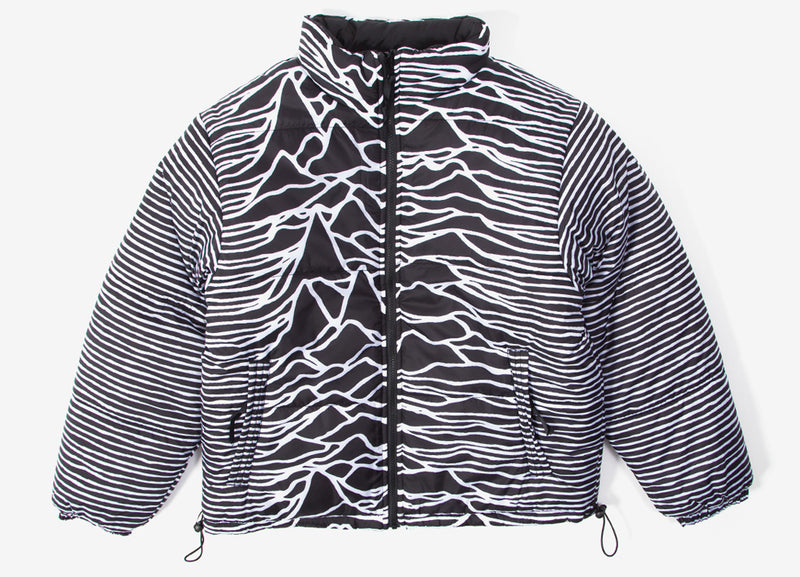 Pleasures x Joy Division Disorder Reversible Puffer Jacket - Black