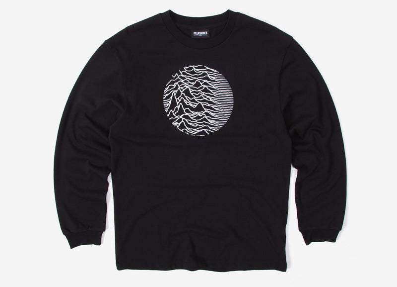 Pleasures x Joy Division Lost Control Long Sleeve T Shirt - Black