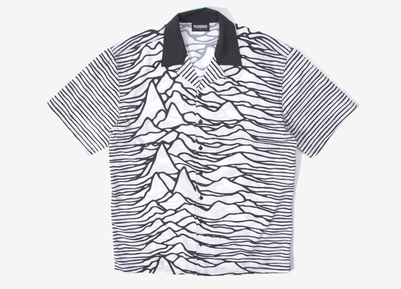 Pleasures x Joy Division Waves Short Sleeve Shirt - White
