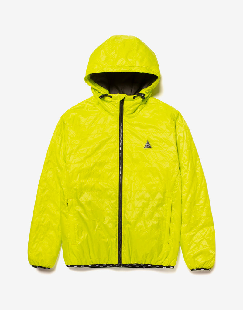 HUF Polygon Quilted Jacket - Bio Lime