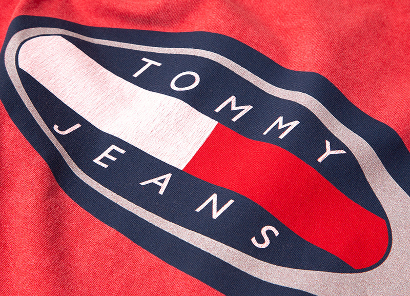 Tommy Jeans Oval T Shirt - Cardinal