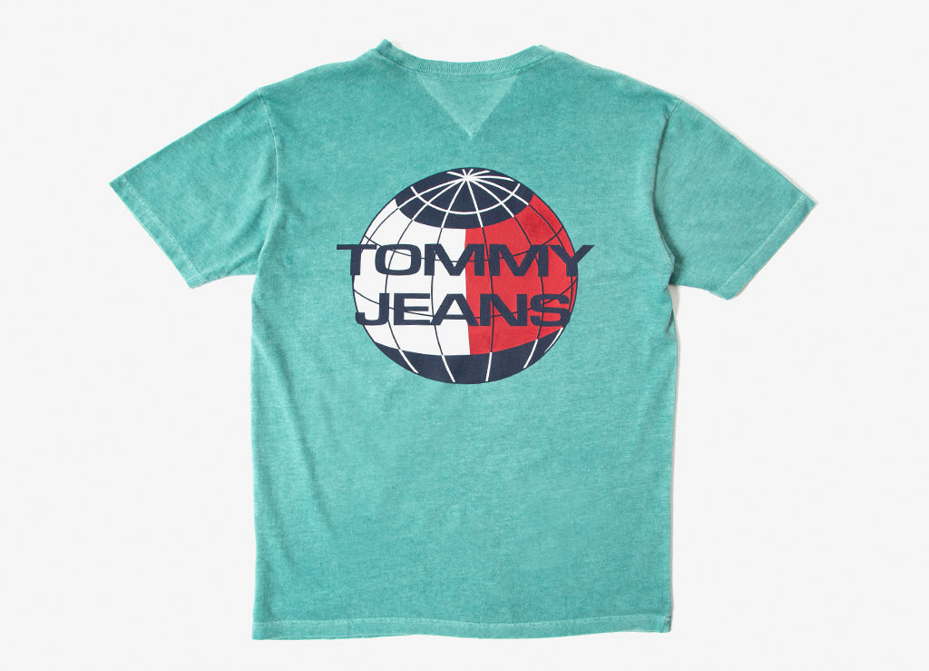 Tommy Jeans Summer Globe T Shirt - Green