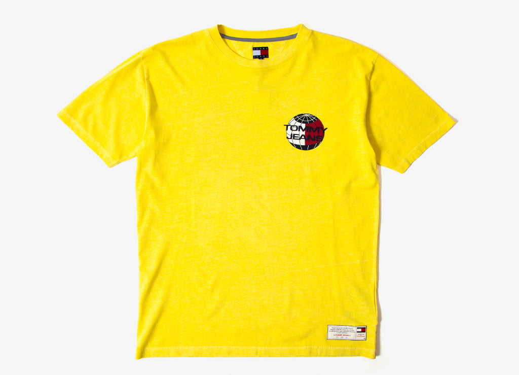 Tommy Jeans Summer Globe T Shirt - Yellow