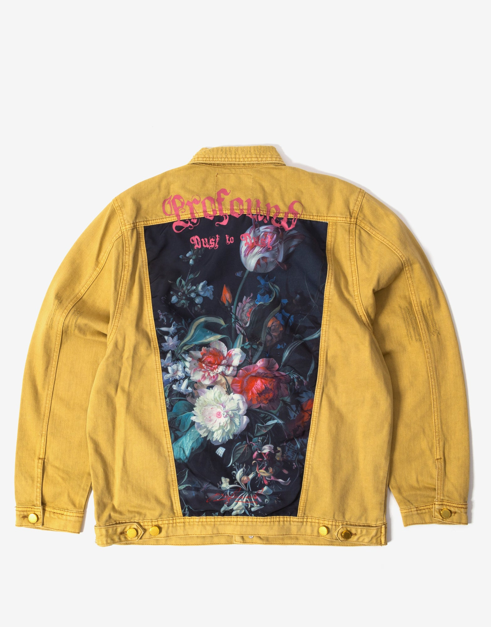 Profound Aesthetic Still Life Destroyed Denim Jacket - Dusted Camel