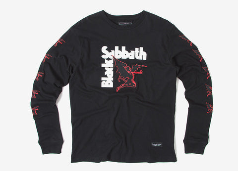 Raised By Wolves x Black Sabbath Creature Long Sleeve T Shirt - Black