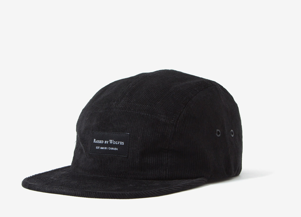 Raised By Wolves Corduroy Camp Cap - Black