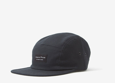 Raised By Wolves Halifax 5 Panel Cap - Black