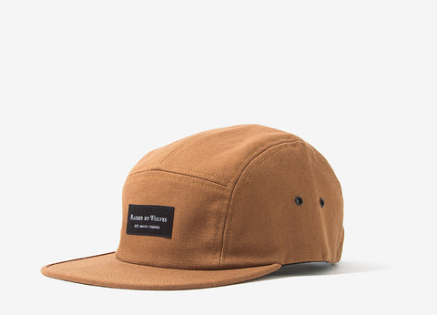 Raised By Wolves Halifax 5 Panel Cap - Ranch Tan