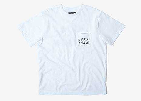Raised By Wolves Mirror Pocket T Shirt - White