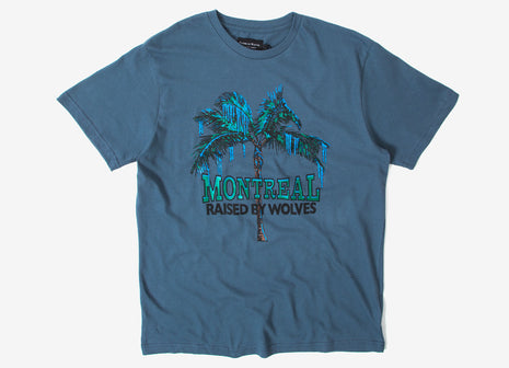 Raised By Wolves Vacation T Shirt - Cool Charcoal