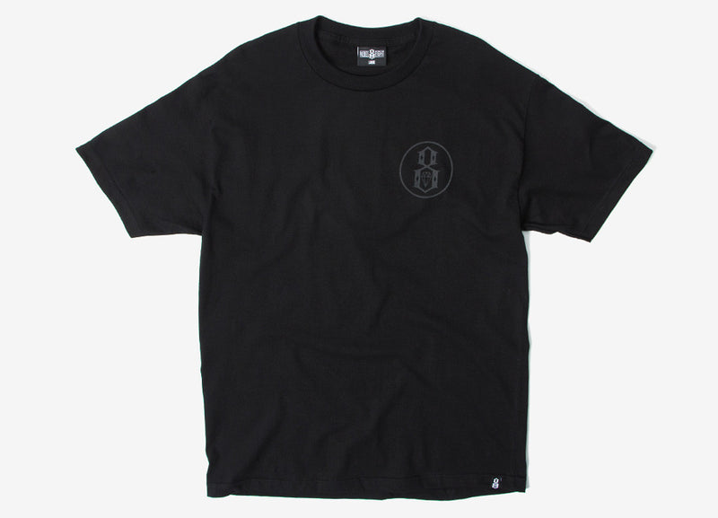Rebel8 Reflective T Shirt - Black